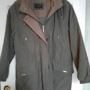 Green and Tan Jacket with detachable hood